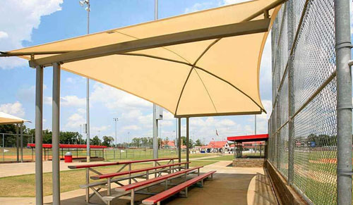 sail shade tensile structure