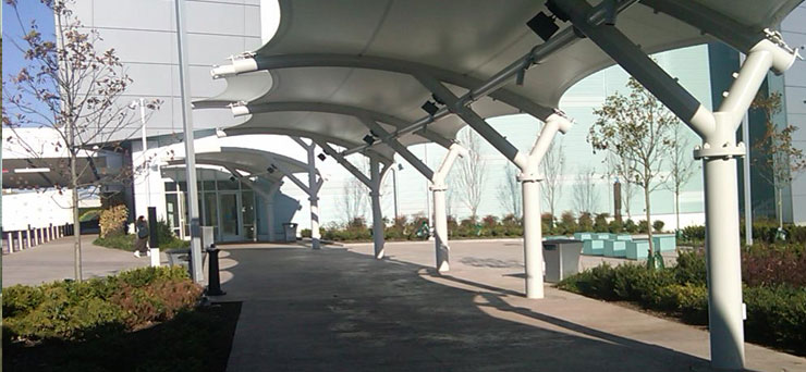 walkway tensile structure manufacturer